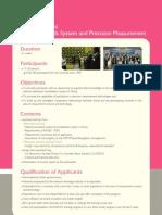 Workshop on National Standards System and Precision Measurement