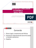 Economia Social Peru, Inclusion