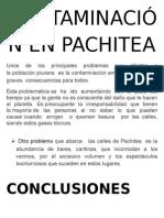 Contaminación en Pachitea