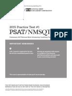 New PSAT/Nmsqt Practice Test 1