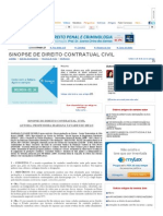 Sinopse de Direito Contratual Civil - Mariana Tavares de Melo - Jurisway
