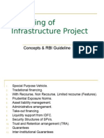 Financing of Infrastructure Project. Concepts & RBJ Gridelines