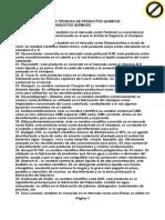 Fichas Técnicas de Productos Químicos