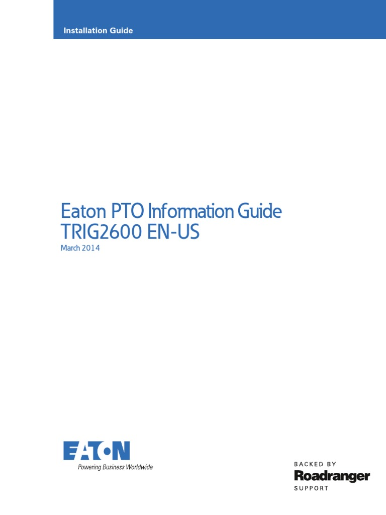 Trig2600en Us 0314 Transmission Mechanics Manual Muncie Pto Pressure Switch Wiring Diagram