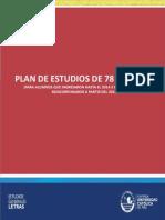 Plan de Estudios de 78 CRÉDITOS EEGGLL PUCP