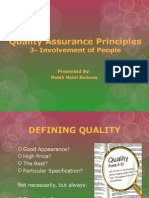 Involvement of People-Quality Assurance Principles