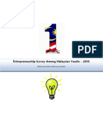 Entrepreneurship Survey Among Malaysian Youths - 2010
