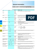 Std Formulae - Electrical Engr