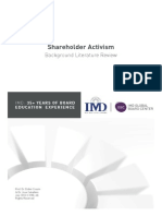Literature Review_Shareholder Activism
