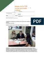 Estudiantes de la UPR paran privatización ejerciendo presión al Presidente.