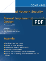 Advanced Network Security – Firewall Implementation And