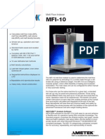 MFI-10 Specification Sheet