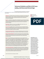 Thrombolysis for Pulmonary Embolism and Risk of All-Cause Mortality, Major Bleeding, and Intracranial Hemorrhage AMeta-analysis