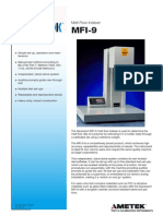 MFI-9 Specification Sheet