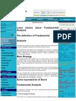 Stock Mkt Basics