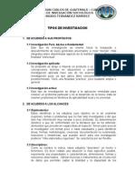 TIPOS+DE+INVESTIGACION