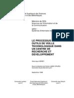 1647 Le Processus Et Les Outils de Veille Technologique Dans Un Centre de Recherche Et Developpement