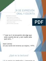 Taller de Expresión Oral y Escrita