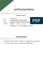 Appied Econometrics-3