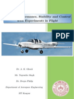 Aircraft Performance, Stability and control with experiments in Flight