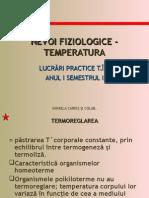 Nevoi Fiziologice - Temperatura