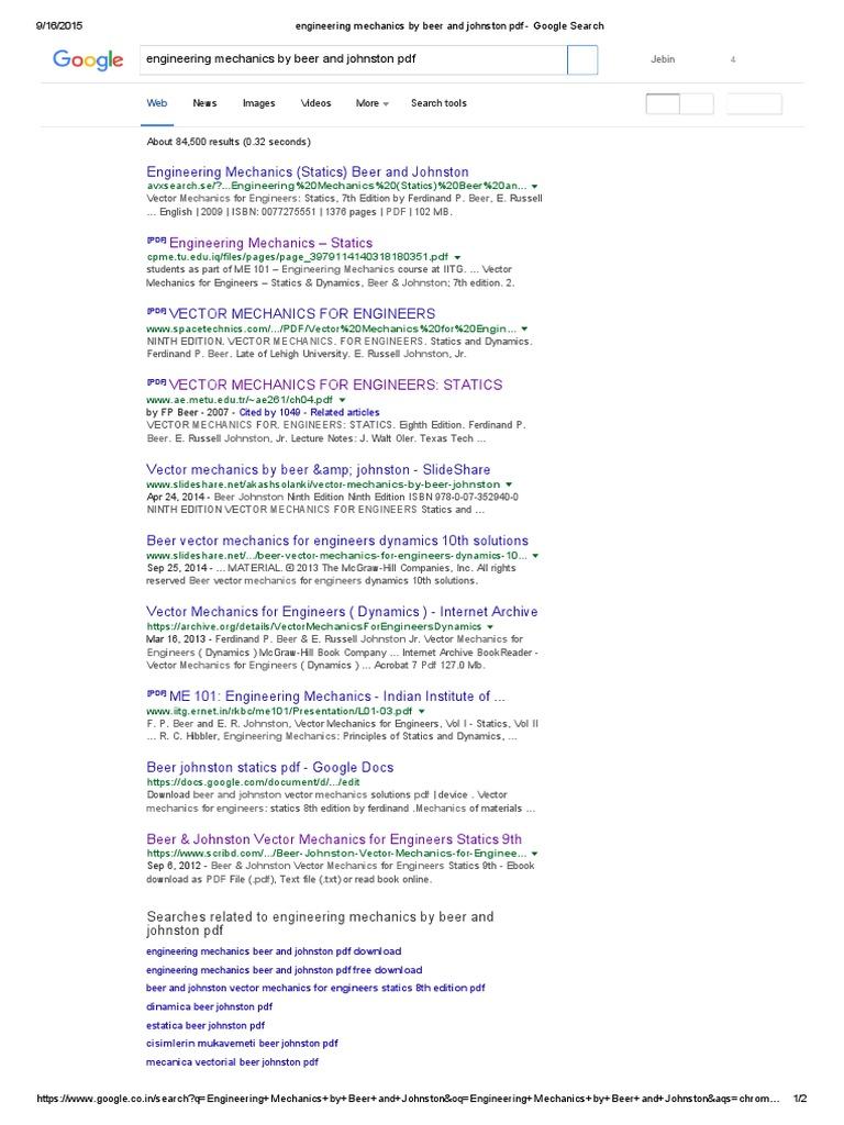 Engineering mechanics by beer and johnston pdf google search fandeluxe Image collections