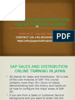 Sap Sd Online Training in Japan