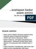 Penetapan Kadar Asam Amino