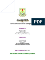 Fertilizer Scenario of Bangladesh