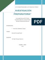 Conclusión de La Investigación Preparatoria