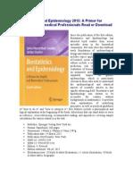 Biostatistics and Epidemiology 2015 a Primer For