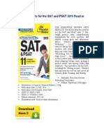 11 Practice Tests for the Sat and Psat 2015