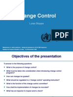 Change Control WHO