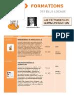 Calendrier Des Formations Communication 2015