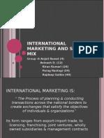 International Marketing and Strategy Mix