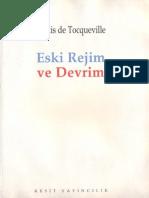 Alexis de Tocqueville - Eski Rejim Ve Devrim