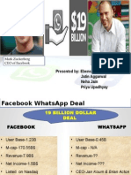 M&A of Facebook and Whatsapp