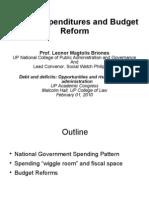 02 Public Expenditures and Budget Reform - Prof. Leonor Magtolis Briones