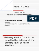 04 Primary Health Care - Dr. Elizabeth R. Paterno