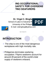 06 Ensuring Occupational Health & Safety for Overseas Filipino Seafarers - Dr. Virgel C. Binghay