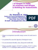 Biogas Status-Schemes-Enrichment and Bottling