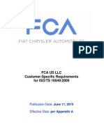 FCA US LLC Customer-Specific Requirements - June 11 2015 Release
