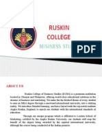 Ruskin College offered Courses