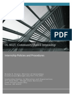 Internship Policies and Procedures