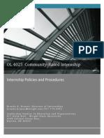Internship Policies and Procedures