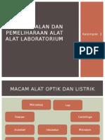 Pengenalan Dan Pemeliharaan Alat Alat Laboratorium