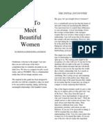 Ross Jeffries - How to Meet Beautiful Women