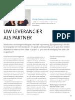 Uw leverancier als partner