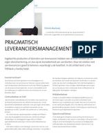 Pragmatisch leveranciersmanagement