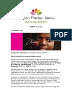 African Flavour Books Celebrates Zukiswa Wanner